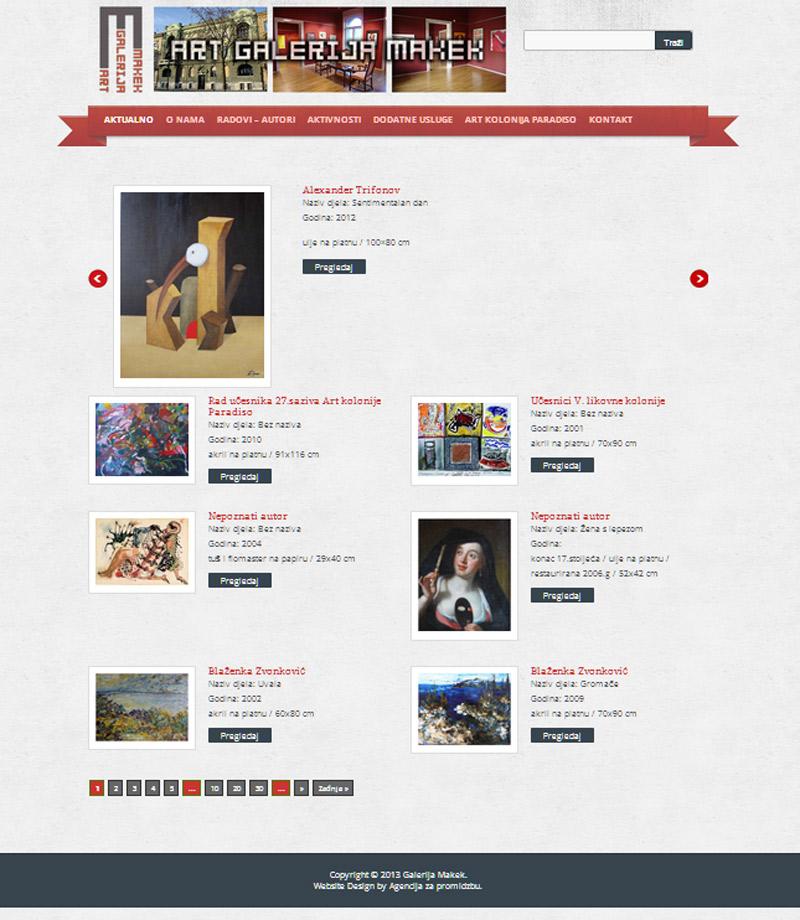 Izrada web stranice za Galeriju