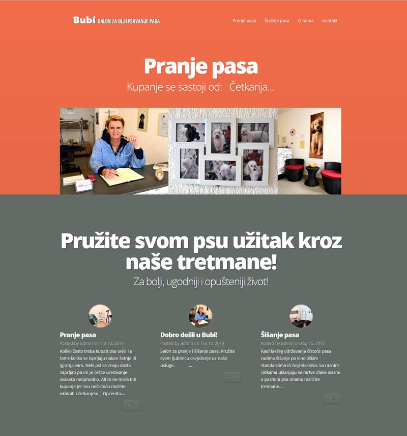 Dizajn i izrada web stranice za salon za pse