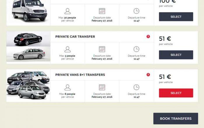 Web stranica za prijevoznike taxi servis