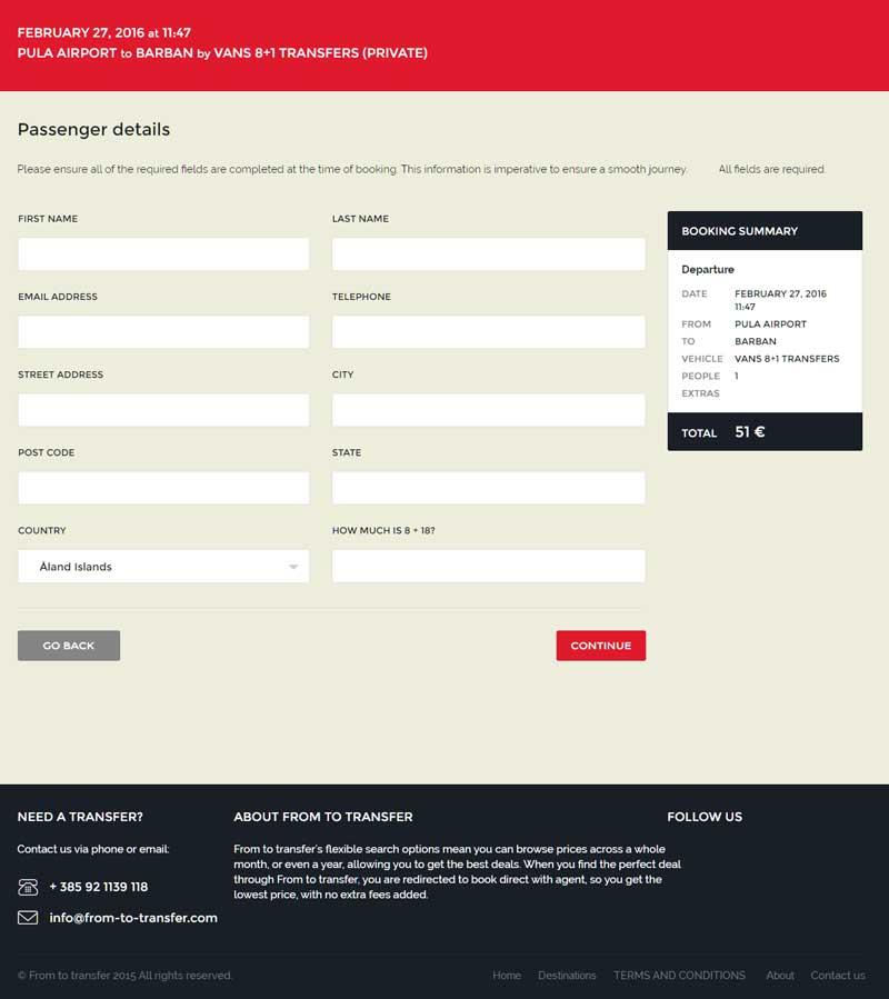 web aplikacija za rezervacije prijevoza