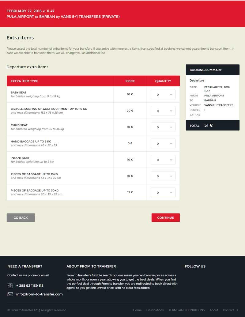 web stranica za prijevoznike taxi firme