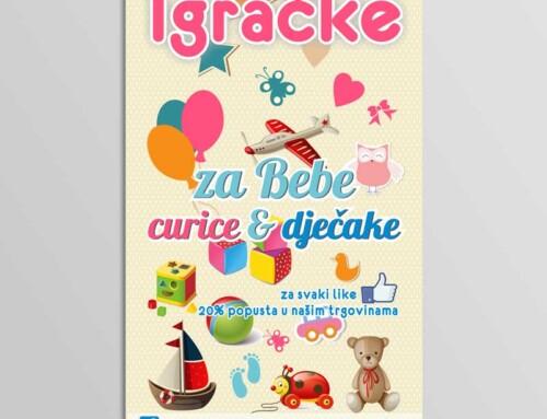 Dizajn plakata za trgovinu igračaka