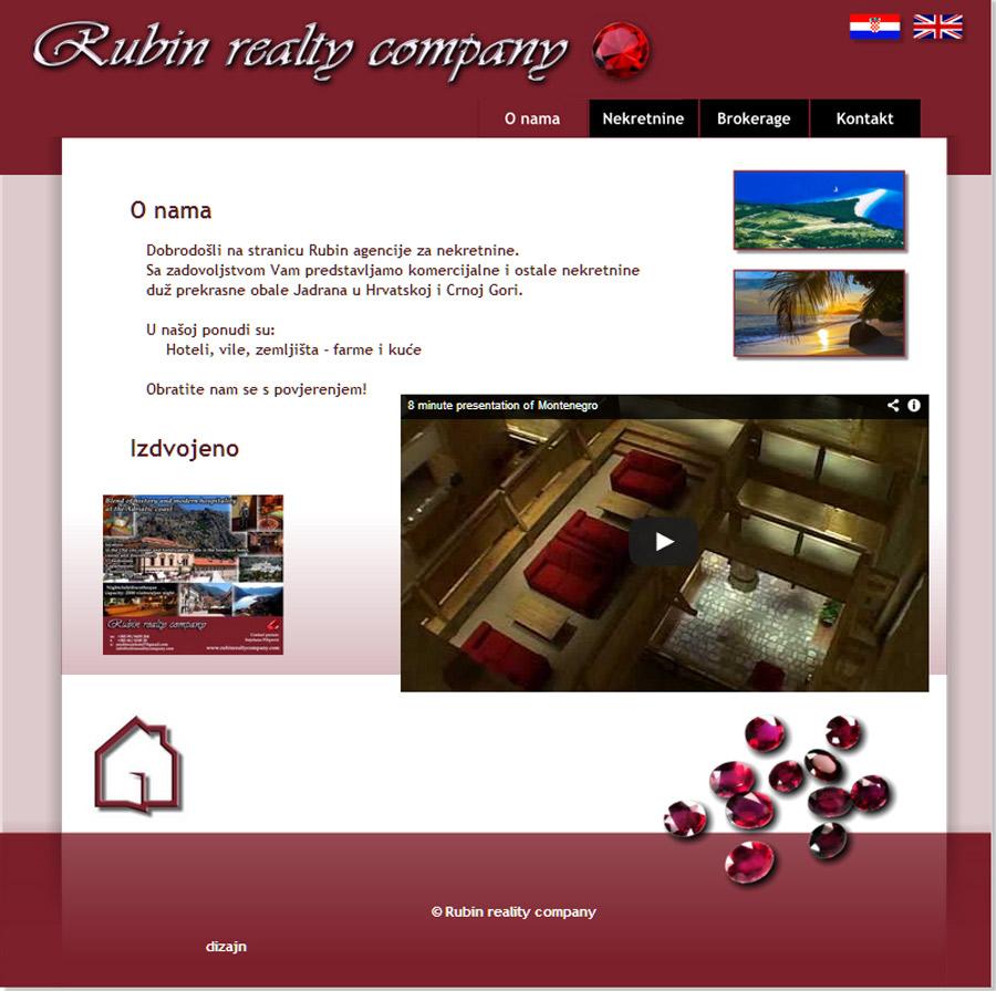 Izrada web stranice za nekretnine