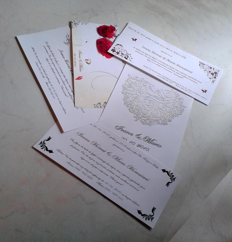Dizajn i izrada pozivnice za vjenčanja