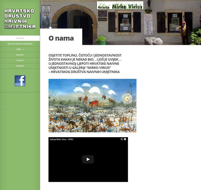 Agencija za promidžbu Dizajn i izrada web stranice za galeriju