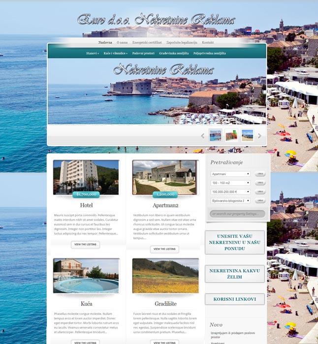 Izrada web stranice za agenciju za nekretnine