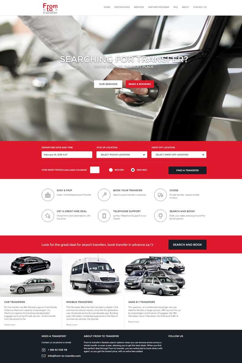 web sustav za rezervacije prijevoza