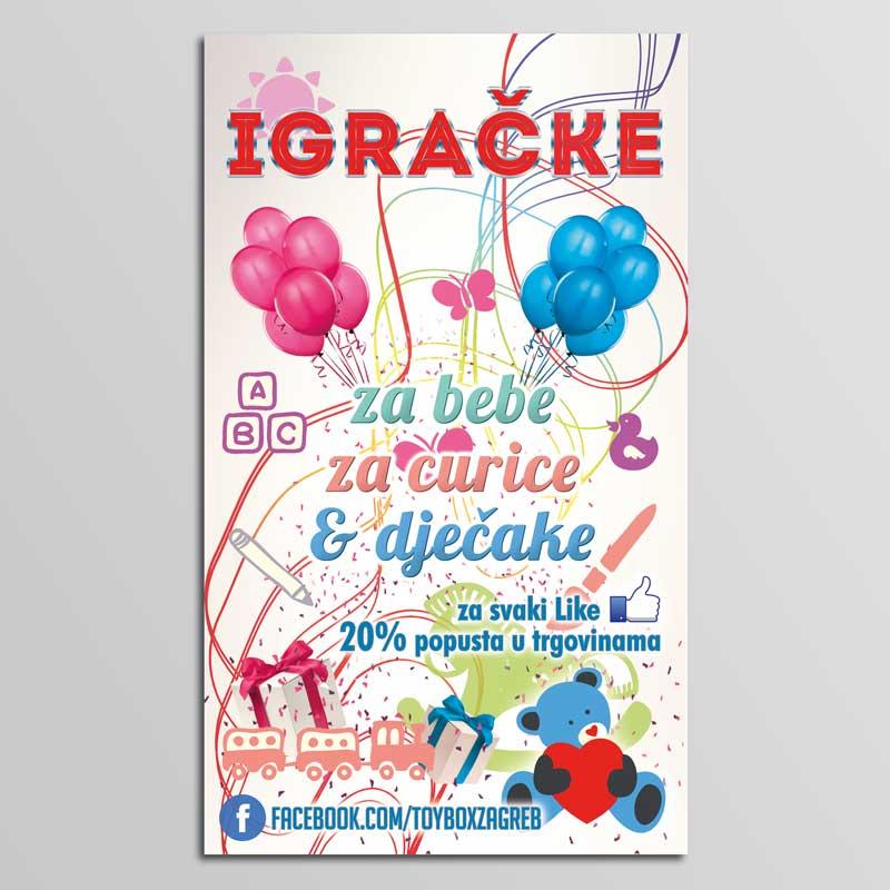 dizajna i izrada plakata za trgovinu igračaka