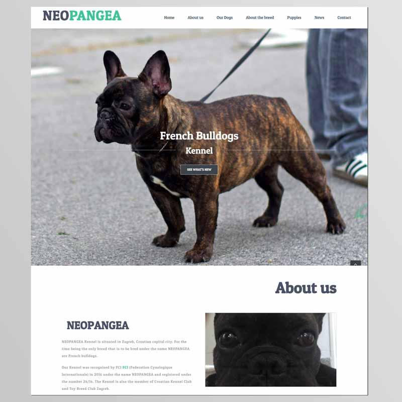 Izrada internet stranice za uzgajivačnica pasa