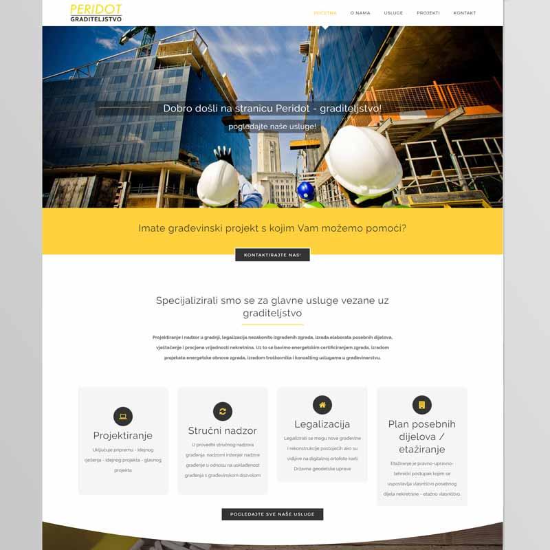 Izrada internet stranice za građevinsko poduzeće