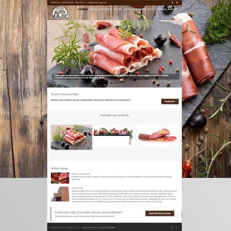 Izrada internet stranice za pršutanu